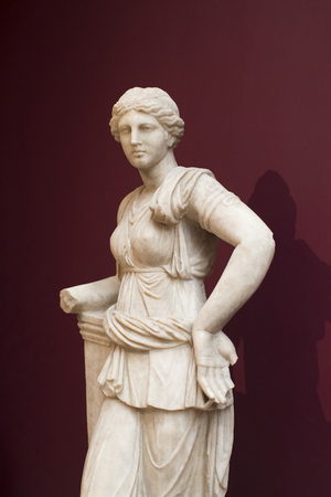 ISTANBUL, TURKEY - 4 APRIL, 2017: Museum of Archeology in Istanbul, ancient exhibits of ancient empires inhabiting the territory of present-day Turkey Editorial
