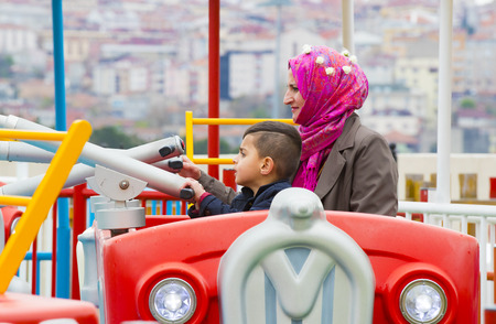 play the old park: ISTANBUL, TURKEY - 8 APRIL, 2017: Vialand themed entertainment amusement park Editorial