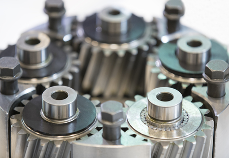connecting rod: New auto parts for cars on a white background