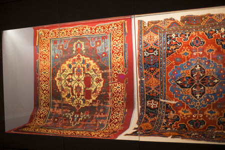 ISTANBUL, TURKEY - 5 APRIL, 2017: Museum collection of ancient rare carpets of Istanbul
