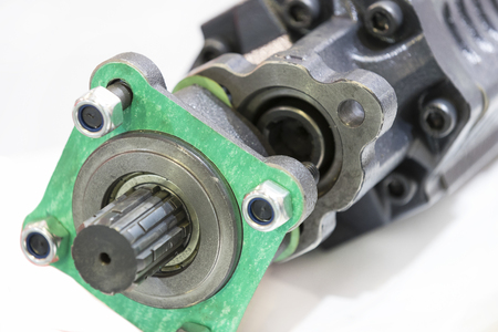 gasket: New auto parts for cars on a white background