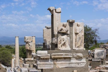 Le rovine dell'antica città antica di Efeso