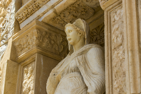 The ruins of the ancient antique city of Ephesus