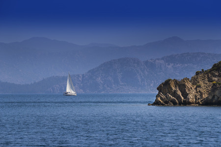 Shores of the islands in the Aegean Sea Stok Fotoğraf