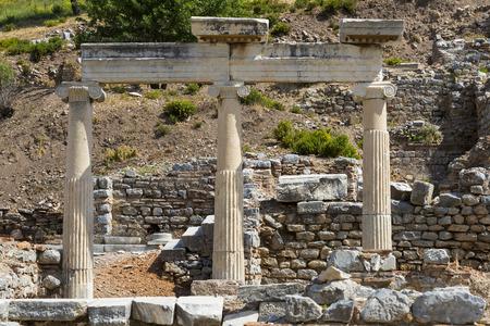 efeso: Le rovine dell'antica città antica di Efeso, la costruzione della biblioteca di Celso Archivio Fotografico