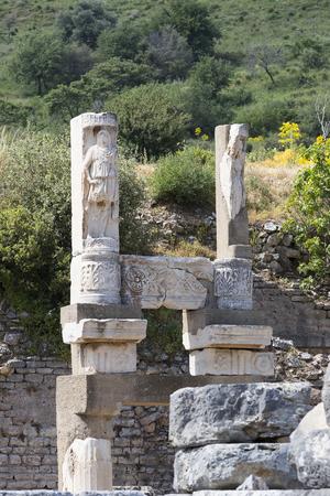 Le rovine dell'antica città antica di Efeso, la costruzione della biblioteca di Celso Archivio Fotografico