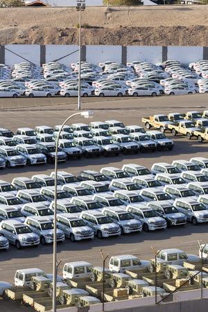JORDAN, AMMAN - 1 JANUARY 2017: Parking of new cars in the open air: JANUARY 1, 2017 in Jordan. Amman