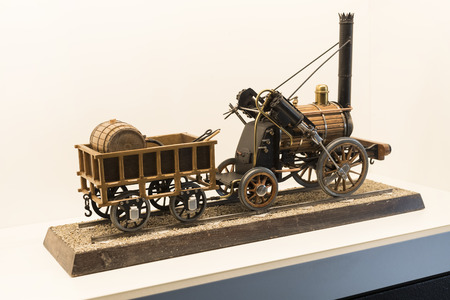 VIENNA, AUSTRIA - 24 AUGUST 2017: The technical museum in Vienna exhibits the production of energy industry machinery. Editorial