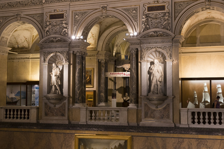 museum visit: 23 AUGUST 2017, VIENNA, AUSTRIA: Exhibits and expositions in the Museum of Natural History, Vienna. Editorial