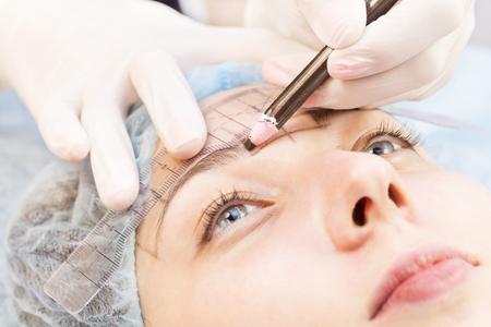美容室の Microblading 眉毛ワークフロー