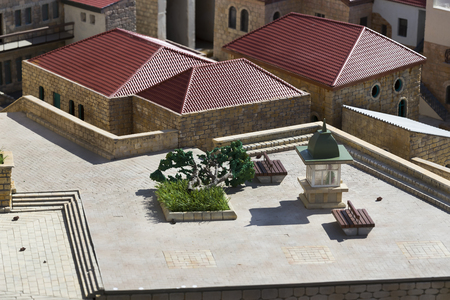 LATRUN, ISRAEL - 23 NOVEMBER 2017: Museum of miniature architectural landmarks of Israel in the open air.