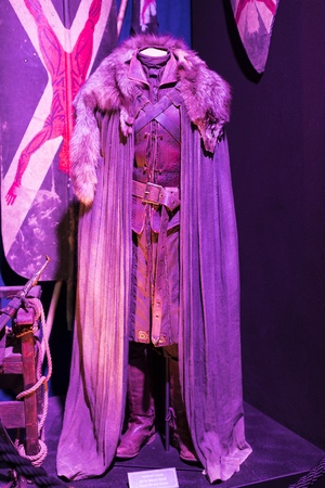BARCELONA, SPAIN - 11 JANUARY 2018: Exhibition of costumes and props from the movie