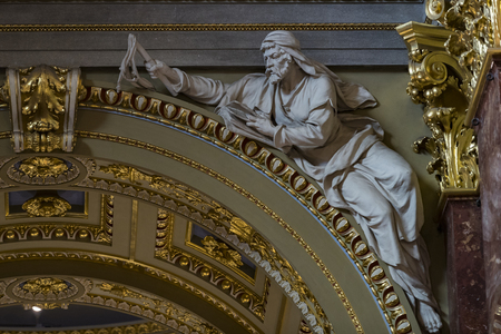 BUDAPEST, HUNGARY - AUGUST 20, 2017: Interior in the Basilica of St. Istvan in honor of St. Istvan Day