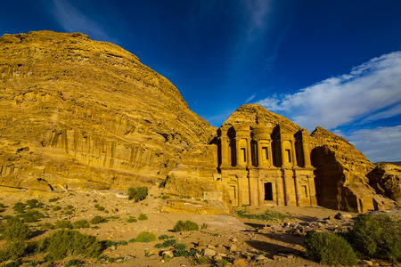 Ancient abandoned rock city of Petra in Jordan tourist attraction.