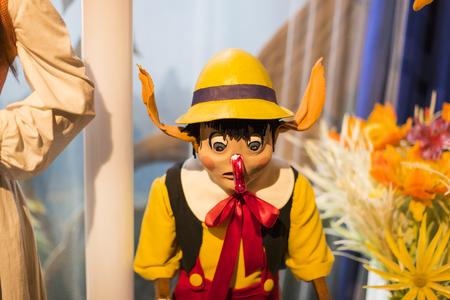 BARCELONA, SPAIN - 11 JANUARY 2018: Museum of wax figures in Barcelona on the street Las Ramblas. Editorial