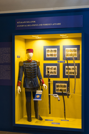 BUDAPEST, HUNGARY - 22 AUGUST 2017: Museum of the history of the military of the Hungarian army with historical exhibits and compositions on the theme of war. Stock Photo - 104404760