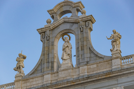 Elements of the architecture of Spain's capital city of Madrid. Editorial