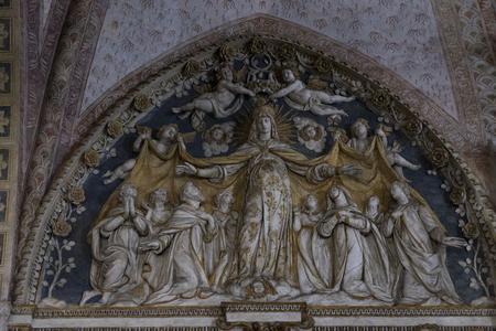 7 JUNE 2018, MILAN, ITALY: Interior of the Catholic Church of Santa Maria delle Grazie in Milan.