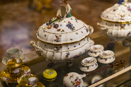 4 JUNE 2018, MILAN, ITALY: Museum of the Poldis Pezzoli, exposition of luxury from the collections of the nobility of Milan.