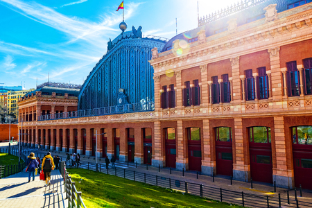 MADRID, SPAIN - 27 MARCH, 2018: The interior of the passenger station Atocha in Madrid. Editorial
