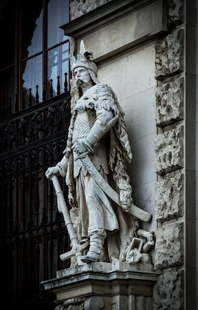 Statues adorning the facade of the Austrian National Library Фото со стока