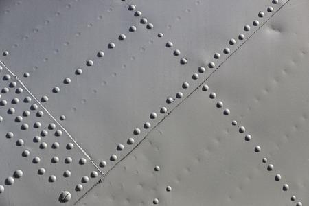 De textuur van het metaal van militair materieel close-up shot.