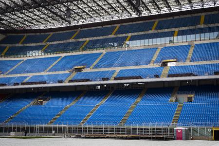7 JUNE 2018, MILAN, ITALY: Elements of the interior stadium football teams Inter Milan and Milan in the city of San Siro. Editorial