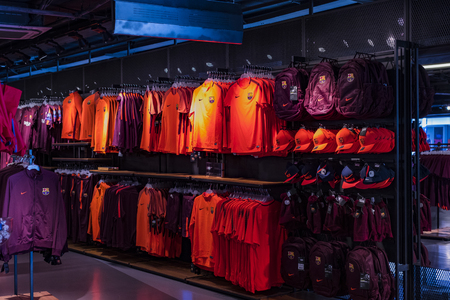 BARCELONA, SPAIN - 12th JANUARY 2018 Official Store