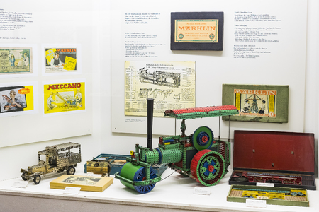 MUNICH, GERMANY - NOVEMBER 26, 2018: The German Museum of Science and Technology represents a collection of metal constructors and its development history. Redakční