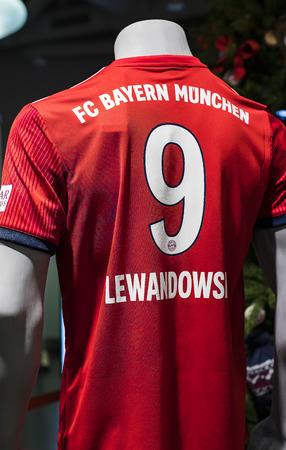 MUNICH, GERMANY - NOVEMBER 25, 2018: Allianz Arena. Editorial