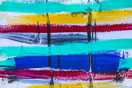 Colored stripes of acrylic paint close-up Stock Photo