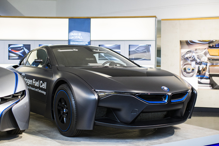 MUNICH, GERMANY - NOVEMBER 24, 2018: Exhibition of the BMW Museum. Éditoriale