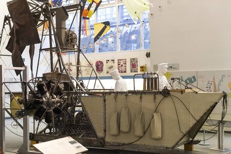 MUNICH, GERMANY - NOVEMBER 26, 2018: The German Museum of Science and Technology Achievement represents the exposure of history of aircraft development. Editorial