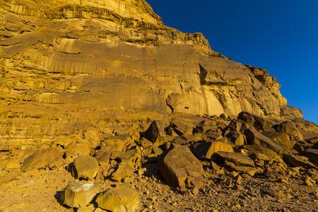 Landscapes Wadi Rum Desert in Jordan sand stone