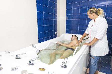 The hydromassage procedure.