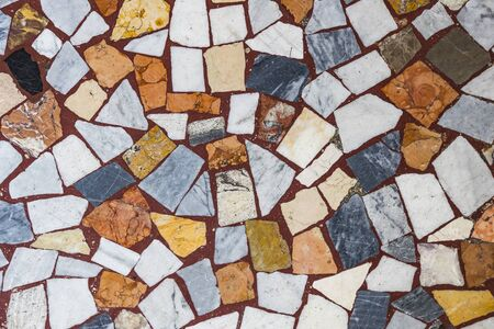 Background of mosaic, color many items