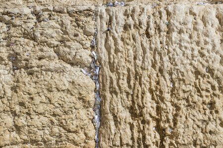 Stone blocks of the wall in Jerusalem