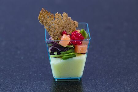 Mini canapes for refreshments at banquets receptions catering