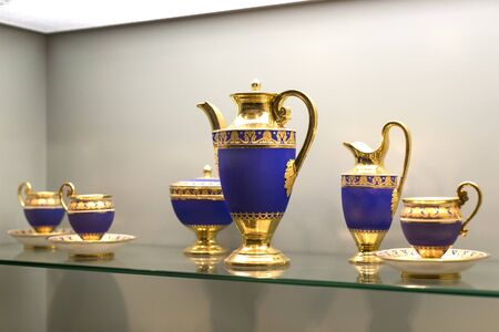 MUNICH, GERMANY - NOVEMBER 27, 2018: The Represents an exposition of the cookware history and collection in the Bavarian National Museum in Munich.
