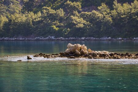 Seascape of the Mediterranean coast of Turkey.
