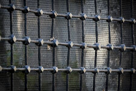 Grid and grille shot closeup.