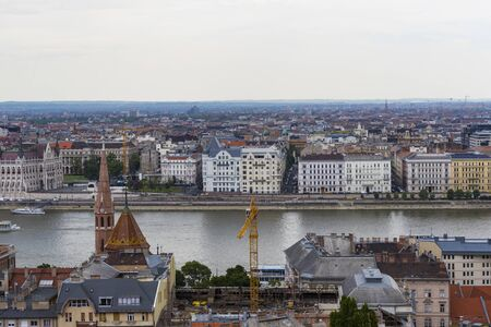 BUDAPEST, HUNGARY. 23 JUNE, 2017: Panorama of Budapest on the banks of the Danube River