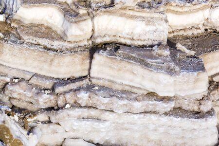 Dead Sea salt deposits white crystals