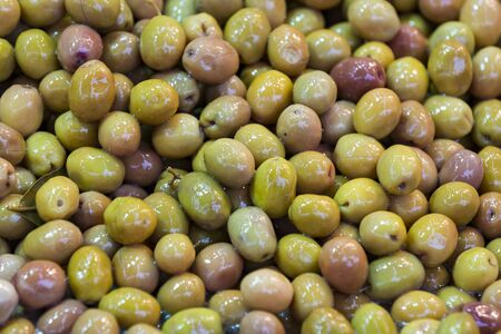 Close-up shot of olives on the eastern market Фото со стока