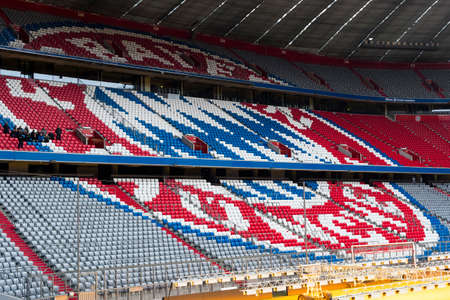 MUNICH, GERMANY - NOVEMBER 25, 2018: Munich Bavaria, Allianz Arena football club.