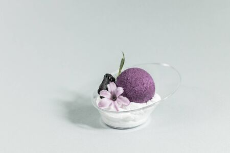 Dessert mini canepa for banquets for receptions receptions shot close-up. Stock Photo