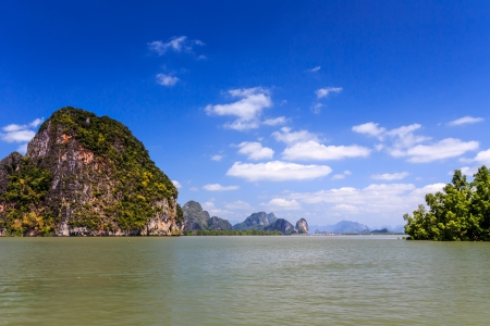 Islands in a Phang Nga Bay, Thailand. photo