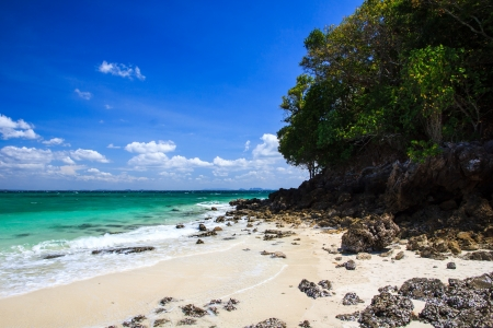 Tropical beach, Tub Island, Krabi province, Thailand photo
