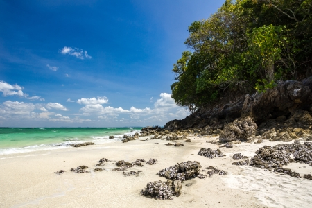 Tropical beach on Tub Island, Krabi province, Thailand photo