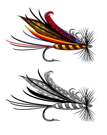 fly: Pesca de la mosca Vectores